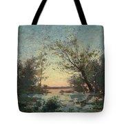 Per Ekstrom, French Landscape In Sunset. Tote Bag