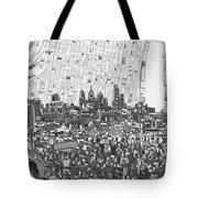 Philadelphia Skyline Map 4 Tote Bag