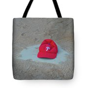 Phillies Hat On Home Plate Tote Bag