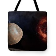 Phobos In The Space Over Mars Tote Bag