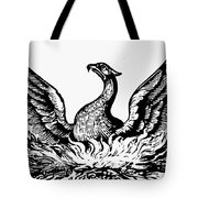 Phoenix Rising From Ashes Tote Bag