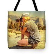 Photographer On Sentinel Dome Tote Bag