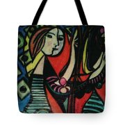 Picasso's Girl Beside A Mirror Tote Bag