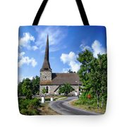 Picturesque Rural Church Tote Bag