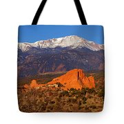 Pike's Peak And Garden Of The Gods Tote Bag by Jon Holiday