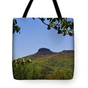 Pilot Mountain In Spring Green Tote Bag