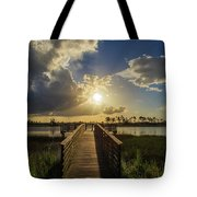 Pine Glades Sunset Tote Bag
