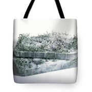 Pine Twigs And Ice Tote Bag