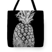 Pineapple Isolated On Black Tote Bag