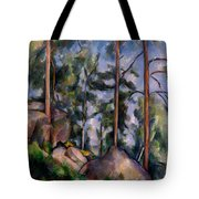 Pines And Rocks Tote Bag
