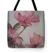 Pink Floral Tote Bag by Ginny Youngblood
