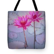 Pink Lily Blossom Tote Bag by Ron Dahlquist - Printscapes
