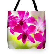 Pink Orchid Lei Tote Bag