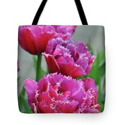 Pink Parrot Tulips Tote Bag