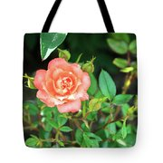 Pink Rose In The Garden Tote Bag