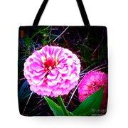 Pink Zinnia's Tote Bag