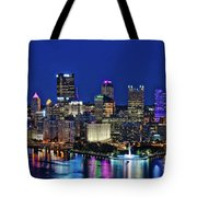 Pittsburgh Night Skyline Tote Bag