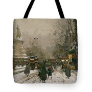 Place De La Republique In Winter Tote Bag
