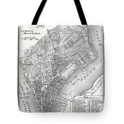 Plan Of The City Of New York Tote Bag