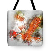 Pokemon Fearow Abstract Portrait - By Diana Van   Tote Bag