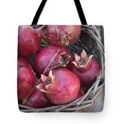 Pomegranates In A Basket Tote Bag