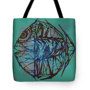 Pop Art - New Tropical Fish Poster Tote Bag