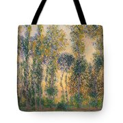 Poplars At Giverny, Sunrise Tote Bag