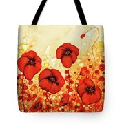 Poppin' Poppies #1 Tote Bag