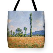 Poppy Field In Giverny  Tote Bag