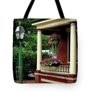 Porch With Hanging Plants Tote Bag