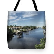 Port Charlotte Ackerman Waterway From Ohara Tote Bag