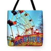 Portable Ferris Wheel Victorian Winter Fair Tote Bag
