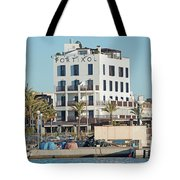 Portixol Marina Moored Boats Tote Bag