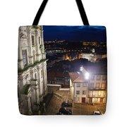 Porto By Night In Portugal Tote Bag