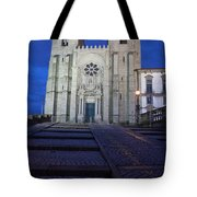 Porto Cathedral By Night In Portugal Tote Bag