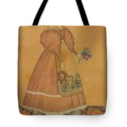 Portrait Of A Girl On A Patterned Carpet Tote Bag