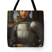 Portrait Of A Man In Armour Tote Bag