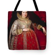 Portrait Of A Woman In Red Tote Bag