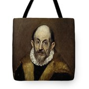 Portrait Of An Old Man Tote Bag