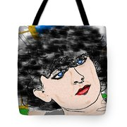 Portrait With Adonit Pixel. Tote Bag