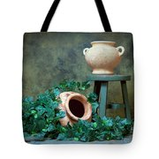 Pottery With Ivy I Tote Bag by Tom Mc Nemar