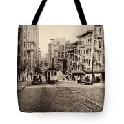 Powell Street Hill - San Francisco 1945 Tote Bag