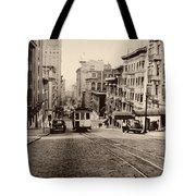 Powell Street Hill - San Francisco 1945 Tote Bag
