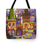 Prague Charles Bridge 01 Tote Bag
