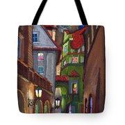 Prague Old Street  Tote Bag