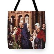 Presentation Of Christ Wga Rogier Van Der Weyden Tote Bag