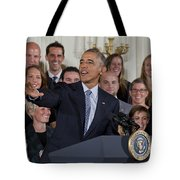 President Obama Honors Us Womens Soccer Team At White House #2 Tote Bag