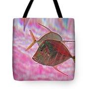 Pretty Fishy, Fish, 6, Multi-color, Pink Backgroun7 Tote Bag