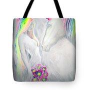 Princess And Unicorn Tote Bag