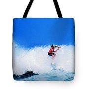 Pro Surfer Alex Ribeiro Tote Bag